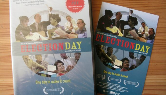 Election Day DVD and postcard